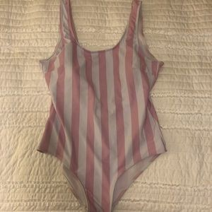 Pink Striped Bathing Suit